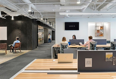 Green Pear Diaries, interiorismo, oficinas, oficinas de Uber en San Francisco, California