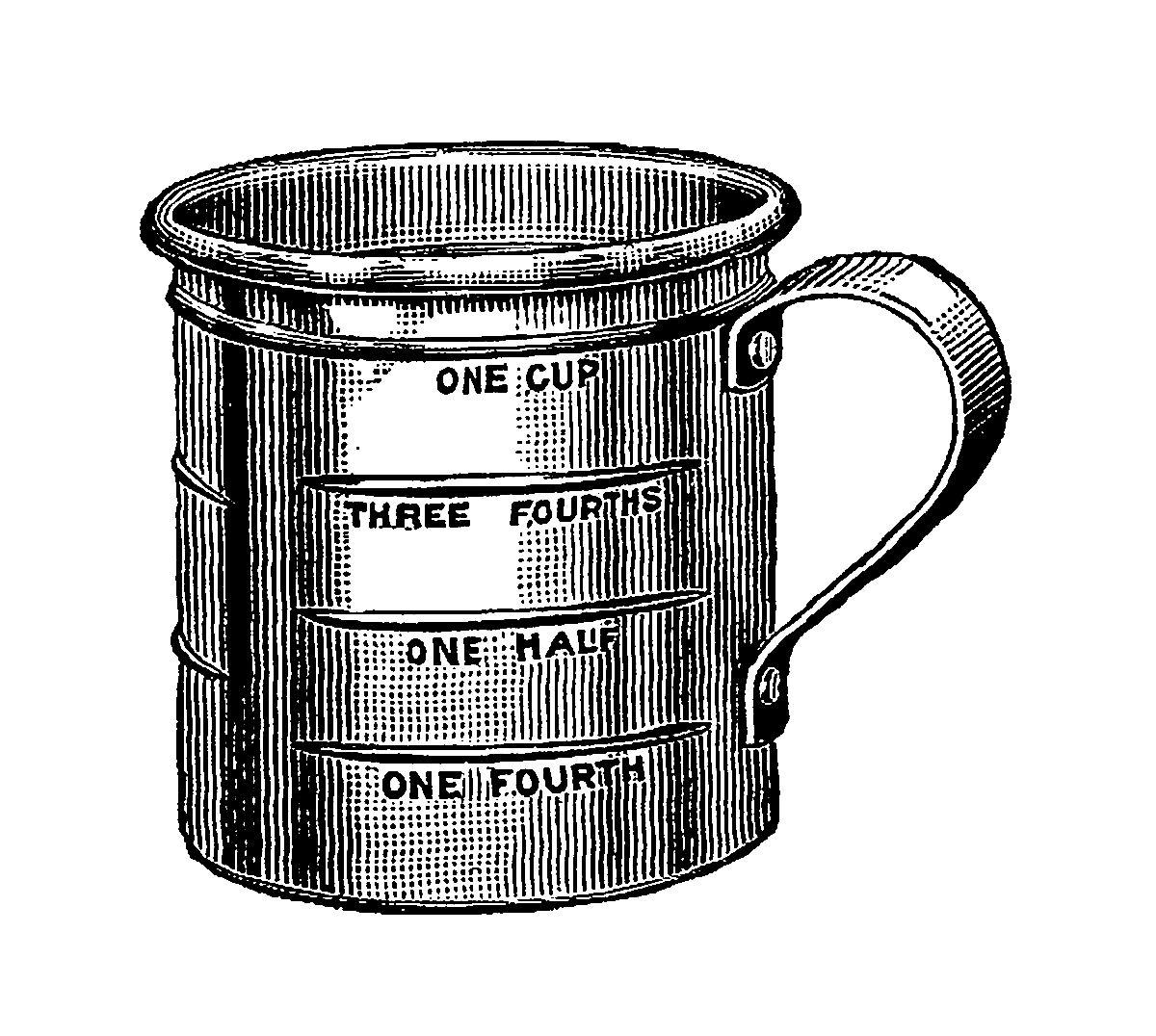 Digital Stamp Design: Digital Vintage Baking Illustration ...
