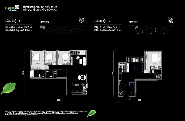 căn 17, 18 từ tầng 4 đến tầng 39 tòa A3 The Arcadia Vinhomes Gardenia