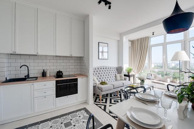 Detalii clasice și tonuri neutre într-un micut apartament de două camere din Kiev