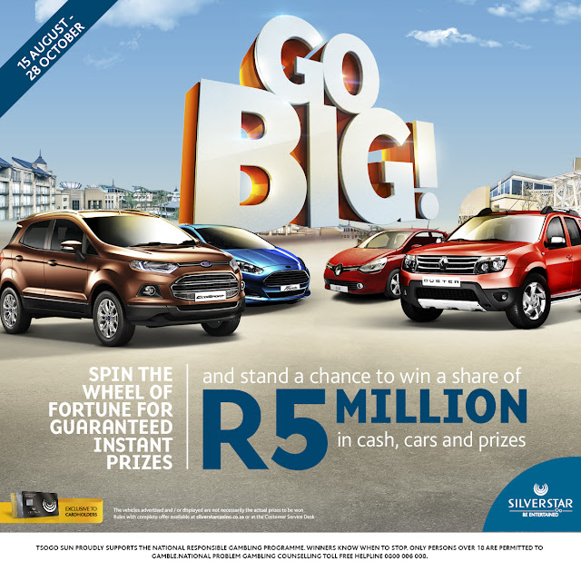 Go BIG with @SilverstarZA Casino This #October @TsogoSun #Jozi