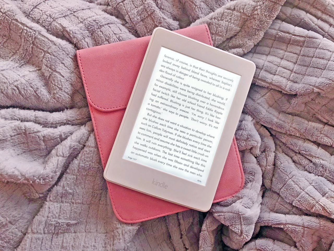 Pink case for kindle paper white