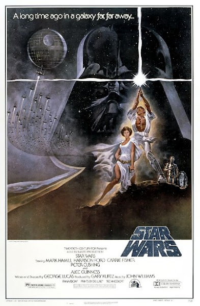 Poster Of Star Wars Episode IV A New Hope 1977 720p Hindi BRRip Dual Audio