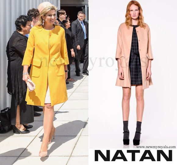 Queen Máxima wears NATAN Marigold Coat