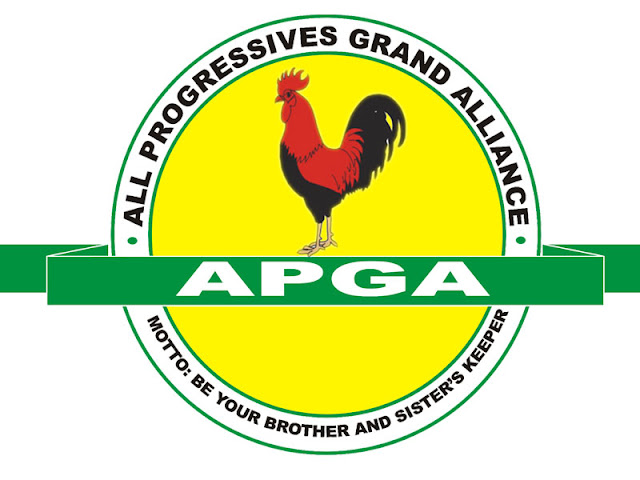 Image result for Awka, Anambra State for the official flag-off of APGA campaign logo