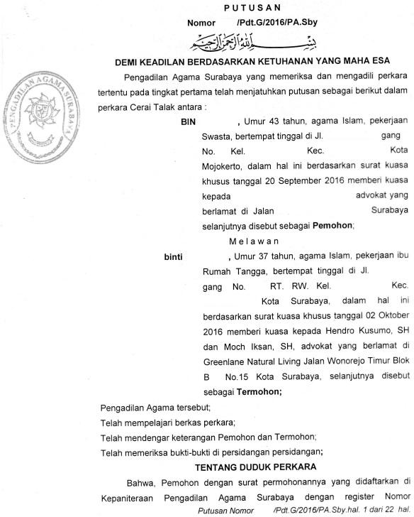 Gugatan Cerai Di Tangerang