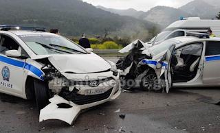Σκληρές εικόνες με νεκρό τον οδηγό που εμβόλισε περιπολικά στην εθνική οδό