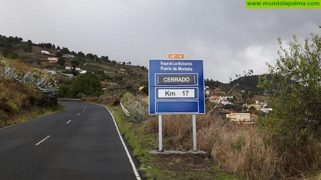 Cierre de la carretera LP-4 Roque de Los Muchachos