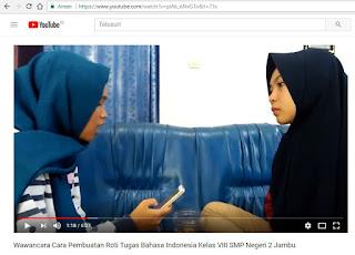 Video Wawancara Tugas Bahasa Indonesia Kelas VIII SMP Negeri 2 Jambu