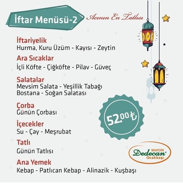 dedecan mardin ramazan menüsü 2019 iftar menüleri mardin iftar yapılcak yerler