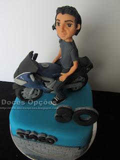 moto bike cake