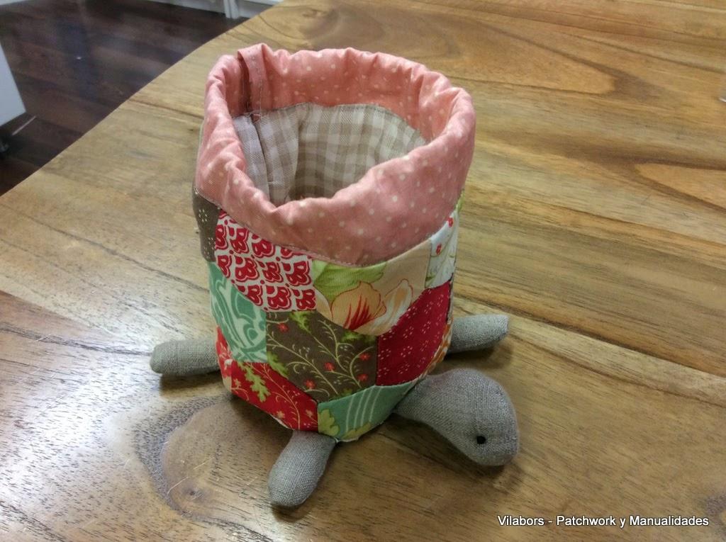 Neceser tortuga abierto - Patchwork Vilabors