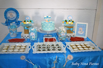 mesa dulce bautizo niño