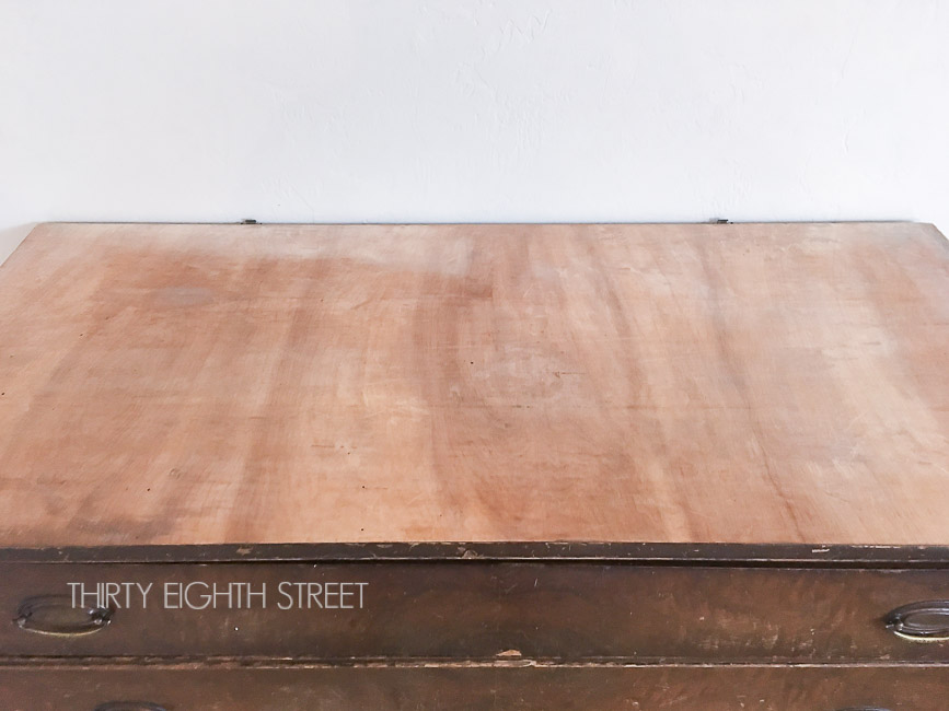 How To Quickly Remove Veneer With A Heat Gun - Thirty Eighth Street