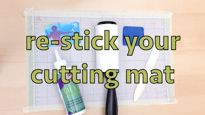 how to make cutting mat sticky again