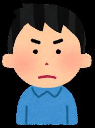 怒る男性のイラスト(段階2)