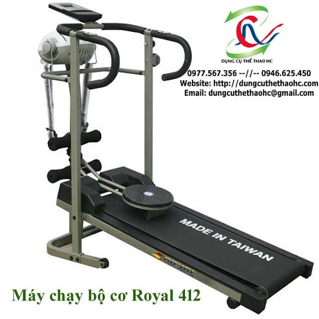 Máy chạy bộ cơ 4 chức năng ROYAL 412