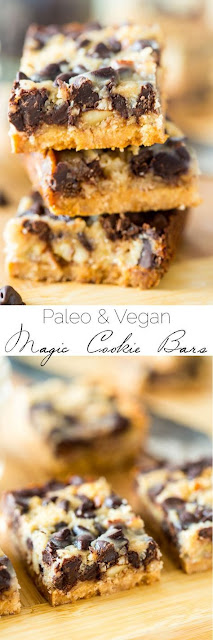 Paleo Magic Cookie Bars {Vegan}