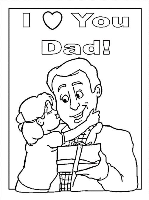 Unique Father's Day Pictures To Print And Color