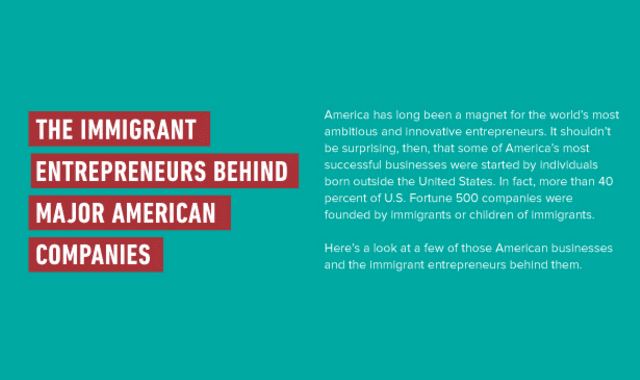 The Immigrant Entrepreneurs Behind Major American Companies