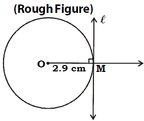 OMTEX CLASSES: 1. Draw a tangent at any point 'M' on the