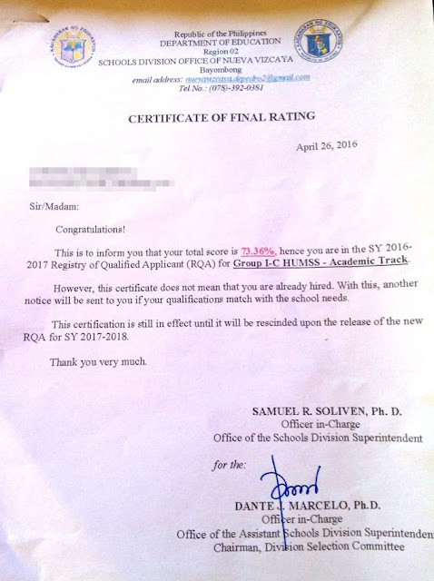 Sample Transmittal Letter For Documents Submission Deped