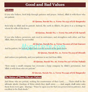 Good and Bad Values