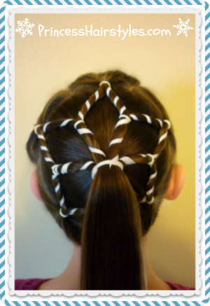 Snowflake hairstyle video tutorial