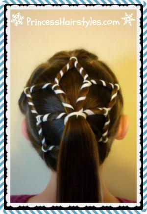 Pleasing Videos Snowflake Ponytail Winter Hairstyles Peykey Blog Short Hairstyles Gunalazisus