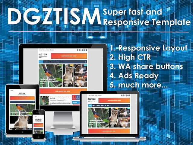 DGZTISM Super Fast and Responsive Blogger Template