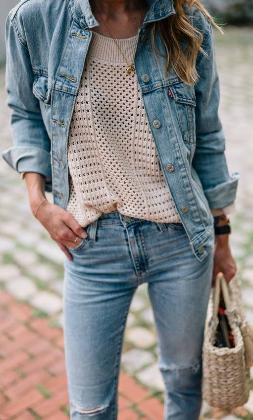 How to Style Denim on Denim this Fall