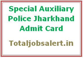 Jharkhand SAP Admit Card