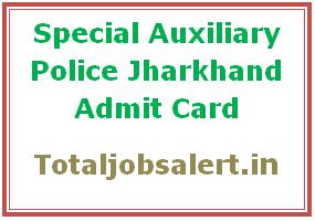 Jharkhand SAP Admit Card