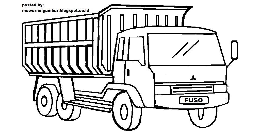10 gambar sketsa truk