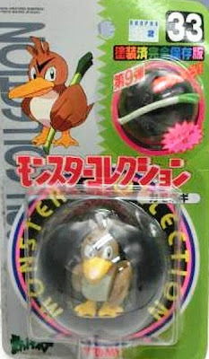 Farfetch'd Pokemon figure Tomy Monster Collection series