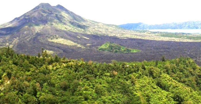 Gunung Berapi dan Danau Batur Kintamani Bali - Bali, Gunung Api, Liburan, Perjalanan, Objek Wisata