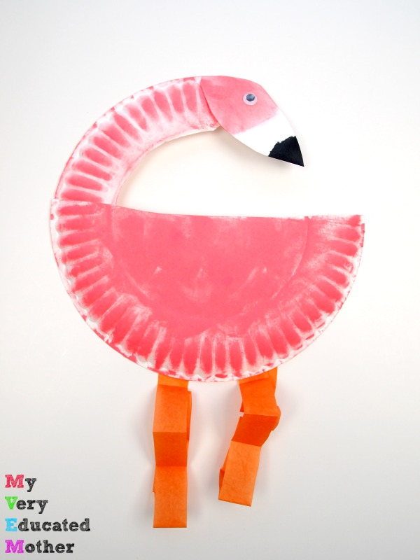 This is my favorite Paper Plate Flamingo - such a great afternoon crafting activity idea!