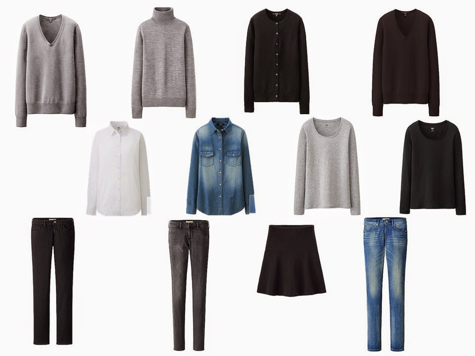 12-piece essential neutral core wardrobe