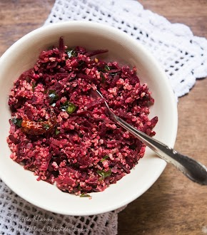 beetroot quinoa stir fry salad south India style