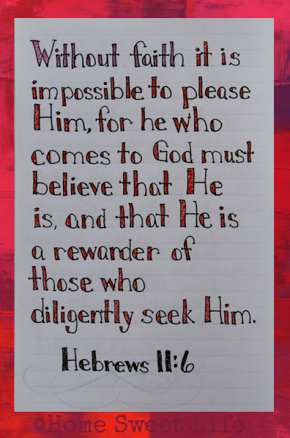 Scripture Writing, Hebrews 11:6