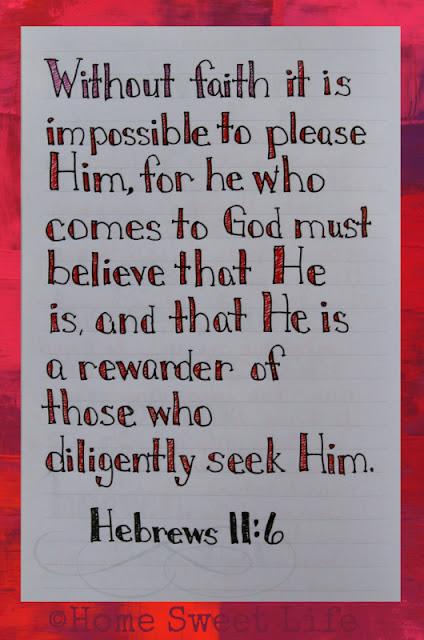 Scripture Writing, Hebrews 11:6