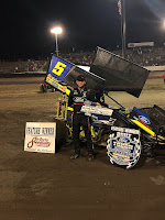 Chase Briscoe prevailed in winning the MOWA Winged Sprint feature.