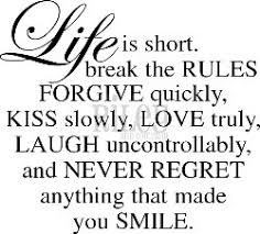 Smile - life is short