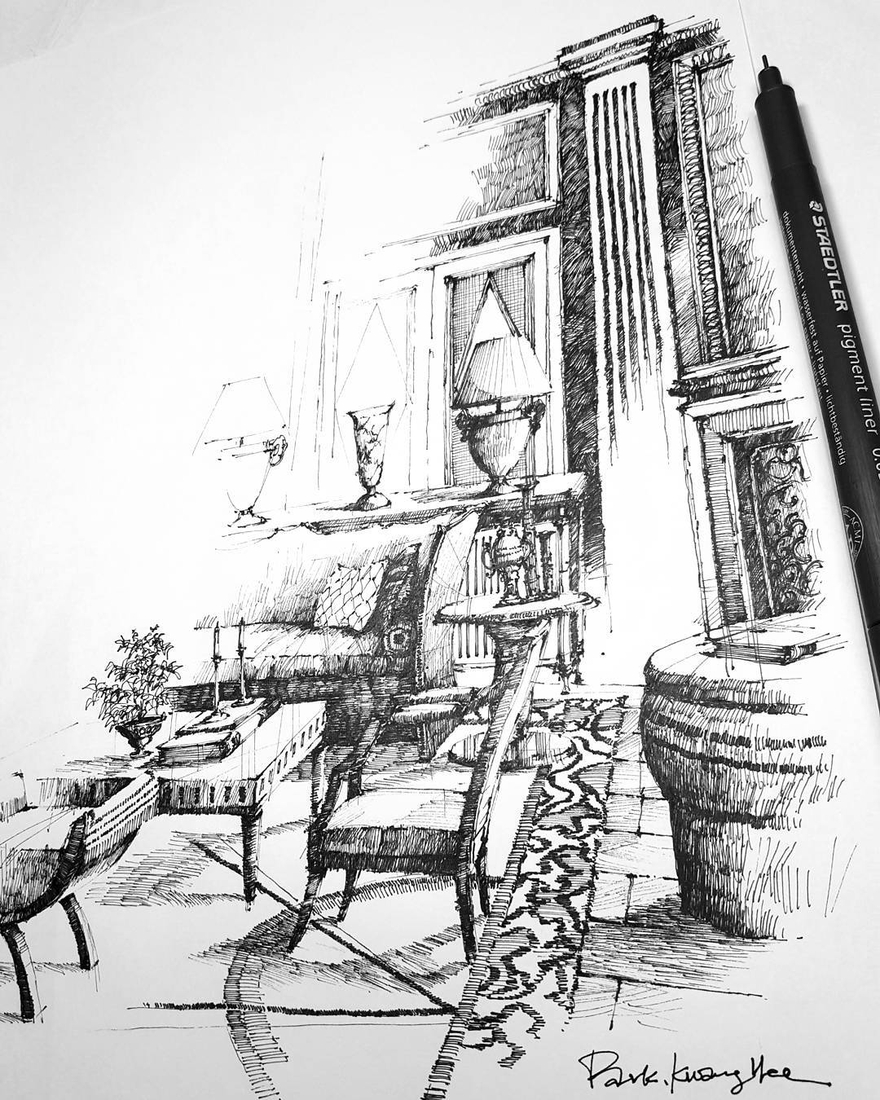 04-Park-Kwang-Hee-Architectural-Sketches-Interior-Exterior-Old-and-New-www-designstack-co