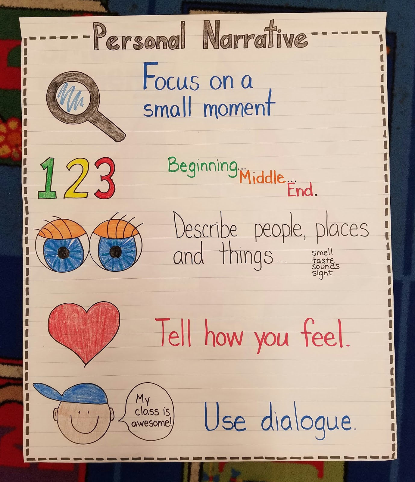 the k files: personal narrative writing: small moments