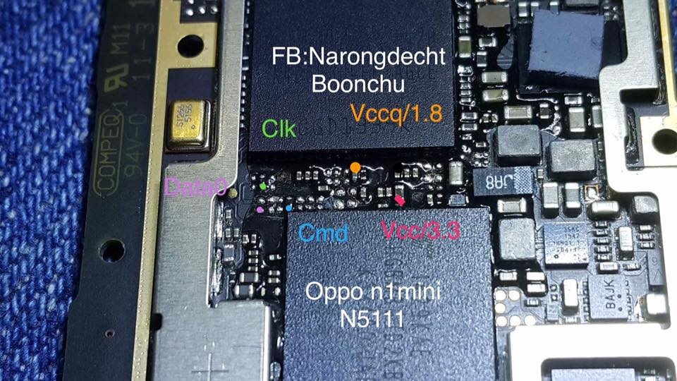 Pinout Direct Emmc Oppo Via Ufi