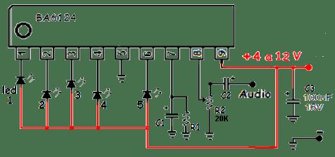Double Stéréo 12 indicateur de niveau DEL Vu meter Lampes Réglable Vitesse Lumière Board