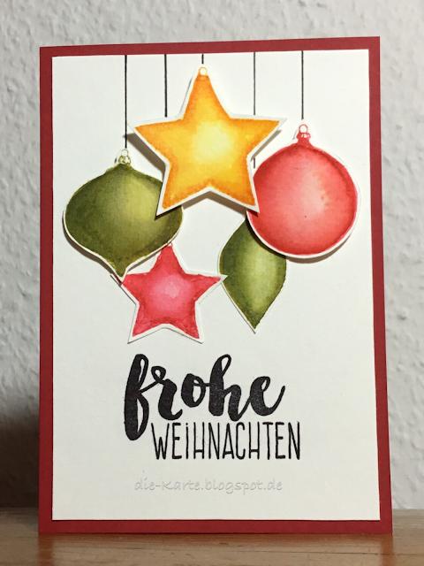 """Watercolour Xmas"" Rubberdance Stamps,   ""13x Frohe Weihnachten"" Klartext Stempel"