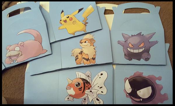 Creating Pokemon Party Boxes