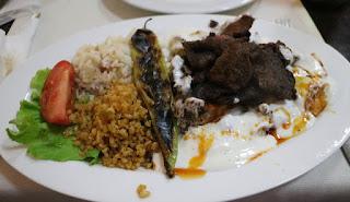 The Iskander kebab; superb
